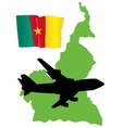 Fly me to the cameroon vector