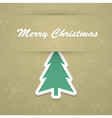 Merry christmas background with fir tree vector