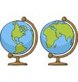 Two globe vector