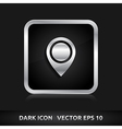 Navigation - pointer icon silver metal vector