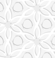 Floristic gray and white seamless vector