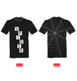 T-shirts with spider web on it part two vector