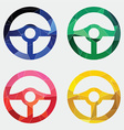 Steering wheel icon abstract triangle vector