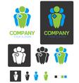 Social health company identity logo template vector