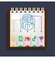 Brain analysis on clipboard vector