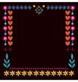 Nature hearts flowers dots frame decorative border vector