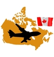 Fly me to the canada vector