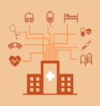 Hospital concept idea in flat style vector
