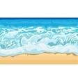 Sea wave and sand beach vector