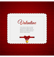 Valentine heart card with ribbon vector