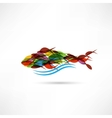 Creative abstract fish icon vector