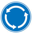 Roundabout crossroad road traffic sign vector
