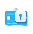 Credit card protection concept icon vector