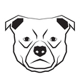 Dog face black and white drawing contour vector
