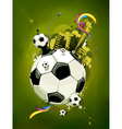 Funky football background vector