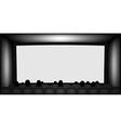 Blank cinema screen vector