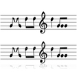 Music in notes vector