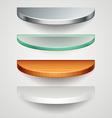 Round shelves vector