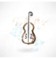Music cello grunge icon vector