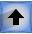 Up arrow flat modern web design on a flat vector