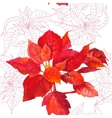 Seamless pattern with poinsettia plant-05 vector