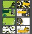 Set of grungy business cards vector