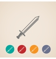 Set of sword icons vector