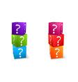 Question mark cubes vector