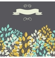 Natural background with branches of leaves and vector