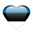 Estonia flag button vector