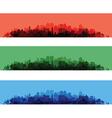 Cityscape overprint vector