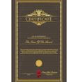 Certificate grunge vector