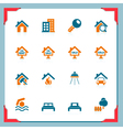 Real estate icons in a frame series vector