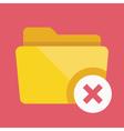 Close folder icon vector