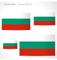 Bulgaria flag template vector