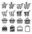 Basket shopping icon vector