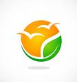 Eco seagul beach abstract logo vector