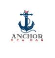 Anchor sea bar concept vector