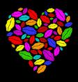 Colorful lipstick heart vector
