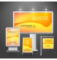 Outdoor advertising design vector