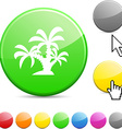 Tropical glossy button vector