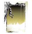 Climbing poster background vector