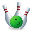 Bowling skittles vector