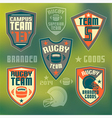 College rugby team vector