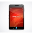 Smart phone with red screen and text vector