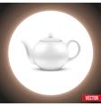 Background of white ceramic teapot vector