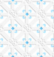 Diagonal white small flowers layered with blue vector