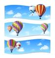 Air balloon banners vector