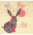 Background with easter rabbit vector