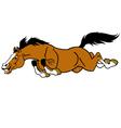 Running cartoon horse vector